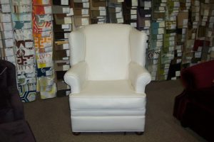 Finished white leather chair