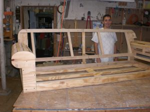 Hand built sofa frame