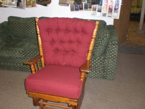 Re-upholstery of platform rocker