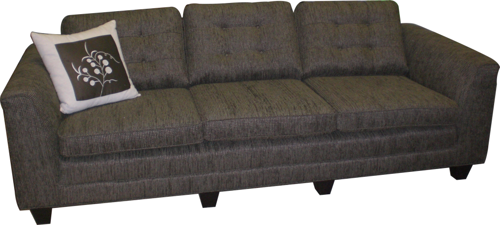 Sofa features extra feet for strength and durability