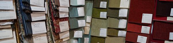 fabric selections at MBU Interiors Mentor OH