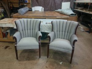 Finished Re-Upholstered Chairs