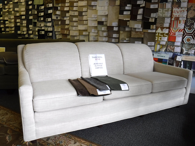 Slope Arm Sofa - Front View