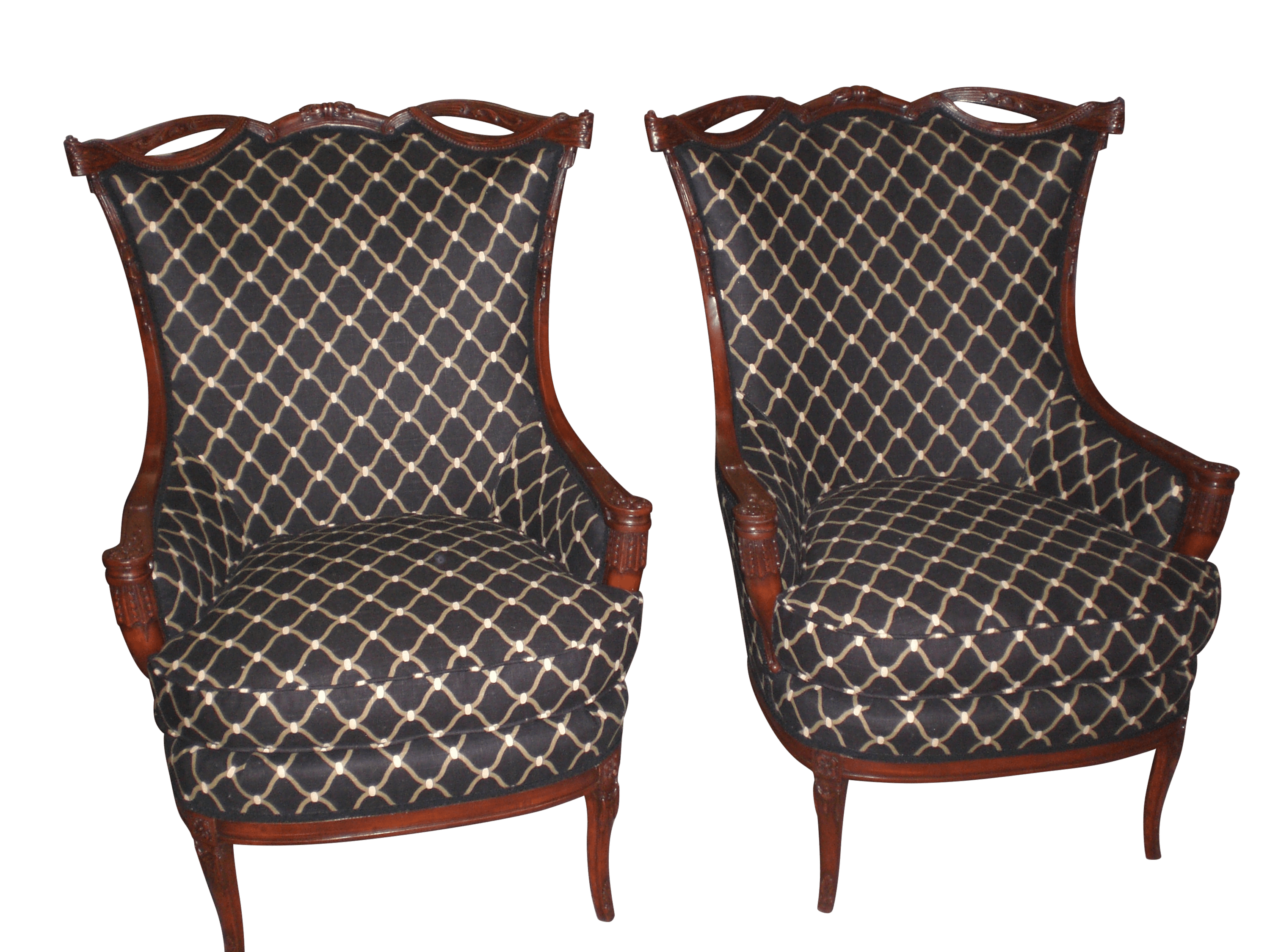 Re-upolstery of a pair of classic chairs