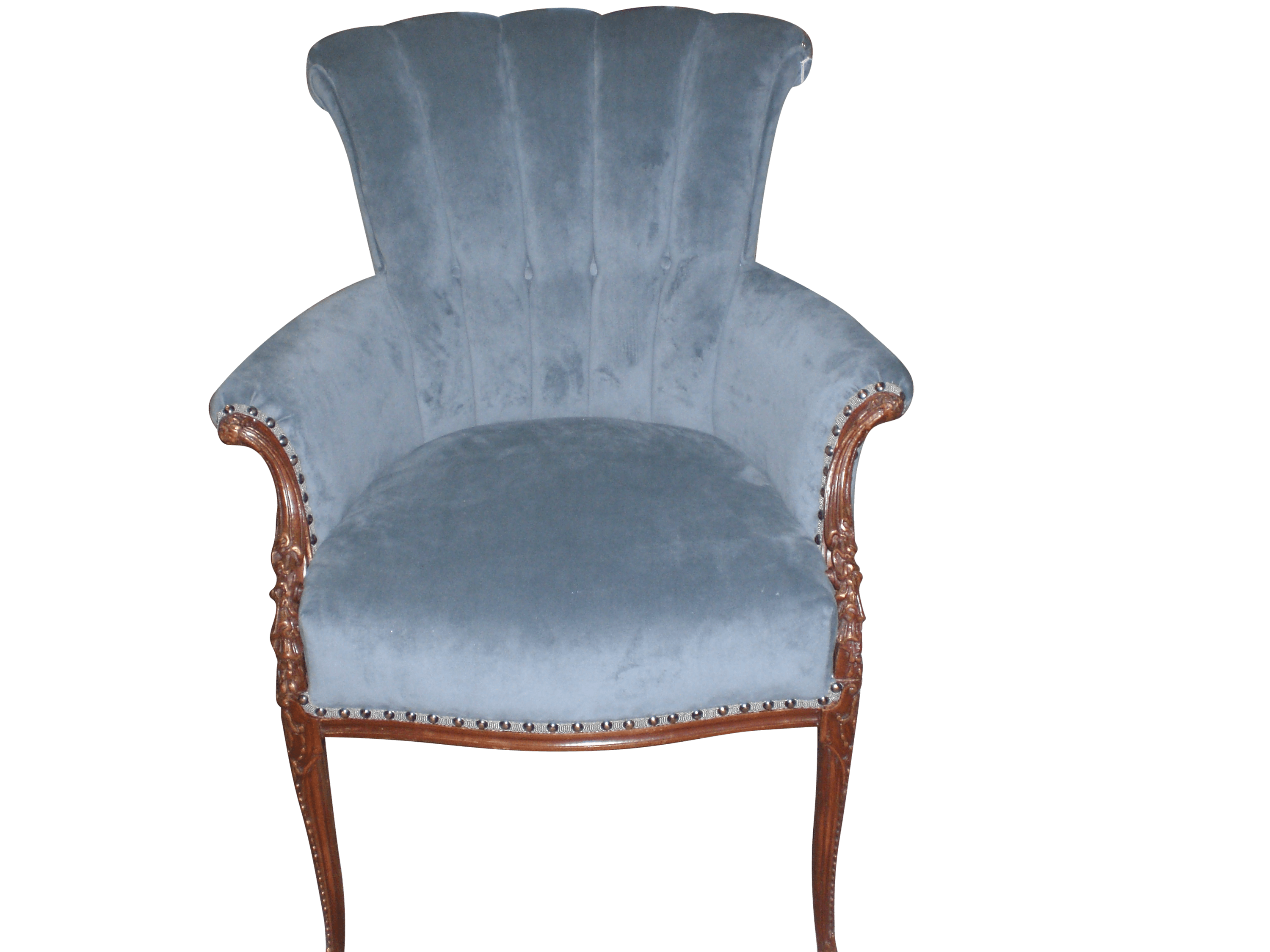 Re-upolstery of an fabric arm chair