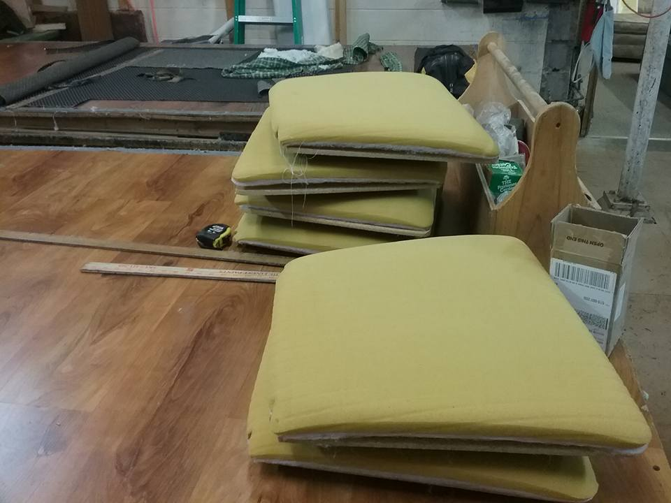 Dining Room Chair Cushions Waiting To Be Recovered