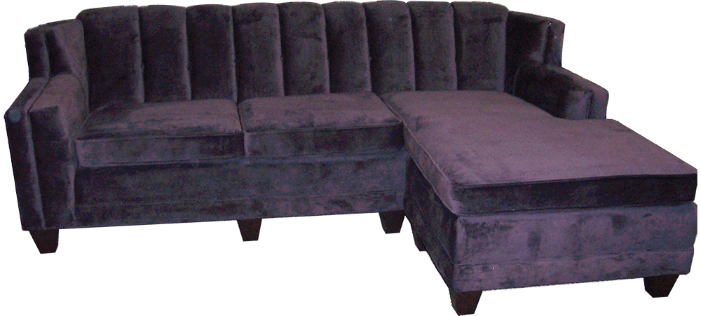 Purple Sofa with lounger cut out 2