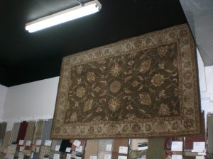 Area rug in showroom