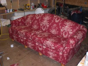 Completed sofa