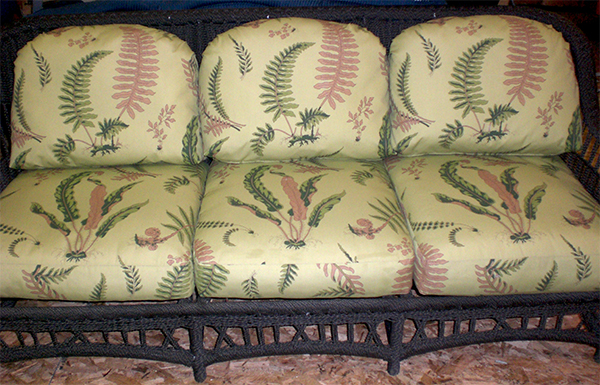 Replacement Cushions for a wicker couch frame