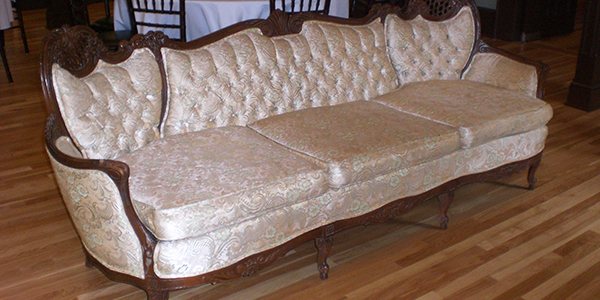 Reupholstery Of Antique Sofa For Steele Mansion