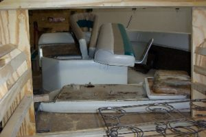 Three color scheme to be carried throughout boat upholstery