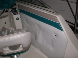 Finished boat wall panel upholstery