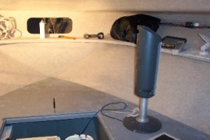 Boat upholstery - fabric walls installed