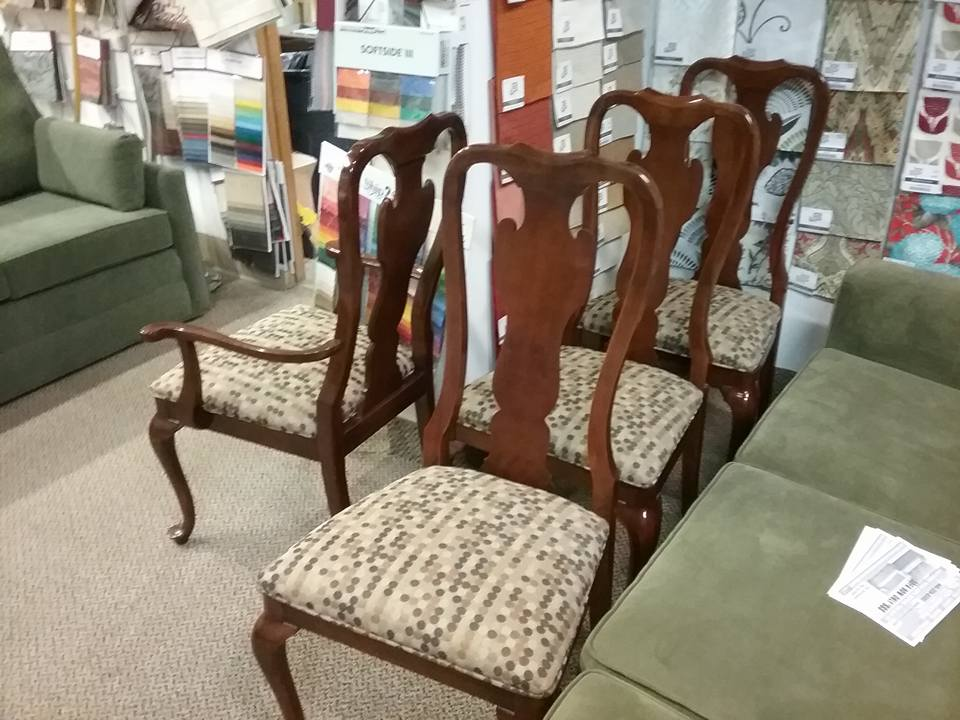 Dining Room Seat Cushion Re-upholstery Project Finished Chairs 2 ...