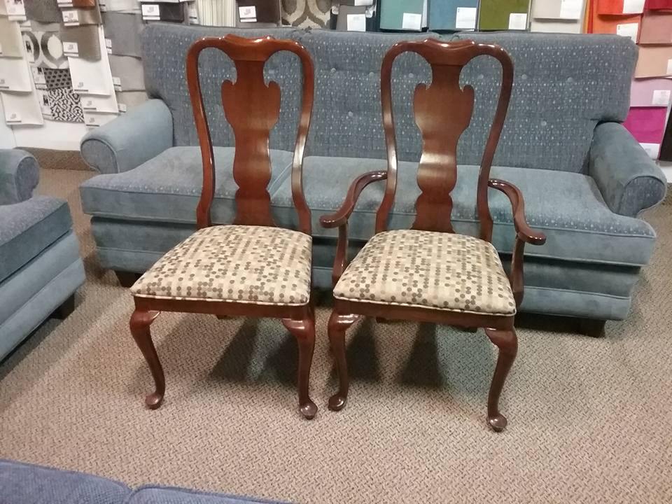 dining room chairs in for re upholstery mbu interiors. Black Bedroom Furniture Sets. Home Design Ideas